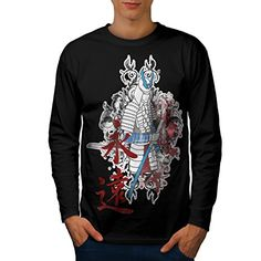 Japan Samurai Warrior Men NEW L Long Sleeve Tshirt  Wellcoda -- Check out this great product.