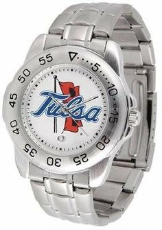 Tulsa Golden Hurricane NCAA Mens Sports Steel Watch by SunTime. $54.95. Stainless Steel-Scratch Resistant Crystal. Calendar Function With Rotating Bezel. Officially Licensed Tulsa Hurricane Men's Stainless Steel Logo Watch. Links Make Watch Adjustable. Men. This handsome eye-catching Mens Sport Watch with Steel Band comes with a stainless steel link bracelet. A date calendar function plus a rotating bezel/timer circles the scratch resistant crystal. Sport the bold colorful...