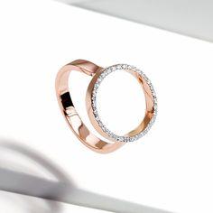 Naida Circle Open Ring #MonicaVinader