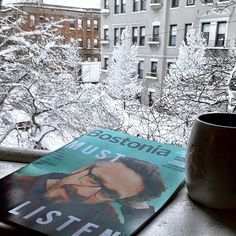 good morning from Boston ⛄☀. it was snowing heavily this morning by the Winter Storm Saturn. how ridiculous it is that Boston University's Spring Break starts tomorrow. (picture taken on 2013.03.08)