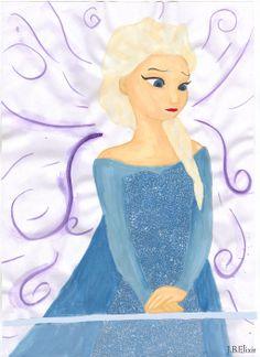 Sad Elsa by gaarasdarkangeljazz.deviantart.com on @deviantART