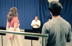 Morgan Keene and Joey Barriro in Rehearsal for Newsies