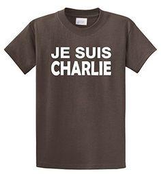 Comical Shirt Men's Je Suis Charlie I Am Charlie Shirt Mens T-Shirt Brown 4XL