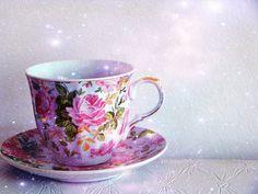 Tea cup, really PRETTY tea cup!