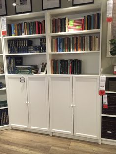 Ikea billy bookshelves with doors