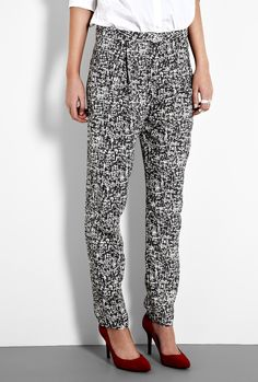 Printed Slim Trousers by Acne