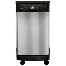 "Kitchen Appliances> Dishwasher: 18"" Portable Dishwasher with Energy Star - Stainless"