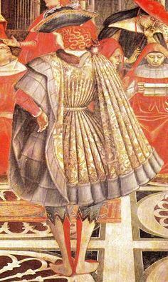 This was the inspiration for Jason's Italian Ren. Detail, Extension of Privileges by Celestine III to the Spedale, Domenico di Bartolo, around 1443.