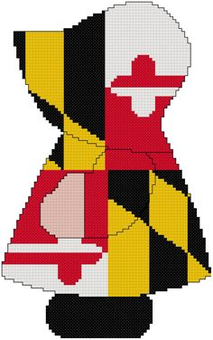 Miss Maryland Sue Cross Stitch by MartisXSDesigns on Etsy