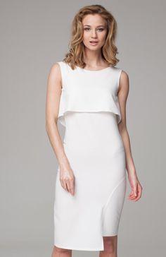56010ac47a Nommo NA99 sukienka ecru - Sukienki na lato - Modne sukienki 216 - Nommo sukienki  damskie - MODA DAMSKA - Sklep Intimiti.pl
