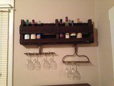 DIY wine rack Using pallets and antique racks