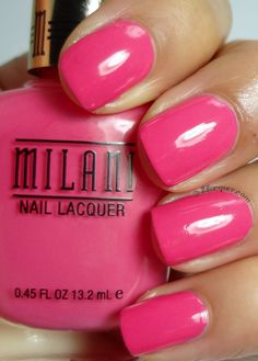 Milani Nail lacquer in Splendid Strawberry- Gold Label line