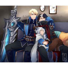 Alucard x Harith x Granger. Bang Bang, Mobiles, Moba Legends, Alucard Mobile Legends, Legend Games, Mobile Legend Wallpaper, The Legend Of Heroes, Anime Family, Disney Rapunzel