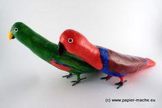 Papuga paper mache 3