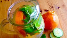 Tangerine, Cucumber and Mint Infused Water - Powered by @ultimaterecipe