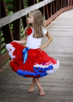 red, white, blue pettiskirt at @Layla Grayce {on sale!}
