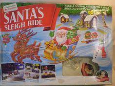 Mr Christmas Santa's Sleigh Ride Animated Christmas Santa Reindeer Train Set