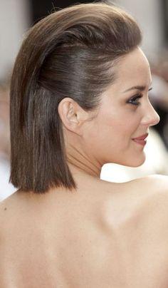 """O penteado foi usado pela atriz Marion Cotillard em uma pré-estreia do filme """"Inimigo Público"""""""