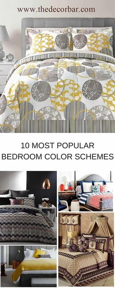 10 bedroom color schemes that will soothe, uplift, and give your bedroom added style.