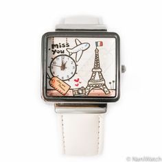 FREE WORLDWIDE SHIPPING / Miss you Paris  hand made by NaniWatch, $49.00