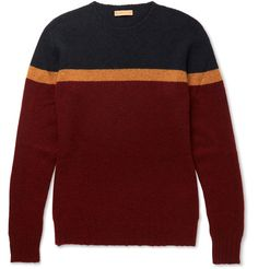 ETRO Colour-Block Cashmere Sweater. #etro #cloth #knitwear