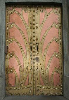 Beautiful rose patina doors. Xk #kellywearstler