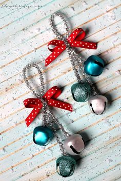 These DIY Christmas Ornaments Will Make Your Tree Truly One .- These DIY Christmas Ornaments Will Make Your Tree Truly One of a Kind DIY Christmas Ornaments Jingle Bells womansday - Kids Christmas Ornaments, Diy Christmas Tree, Christmas Bells, Christmas Crafts For Kids, Xmas Crafts, Simple Christmas, Christmas Crafts Pipe Cleaners, Homemade Christmas Tree Decorations, Homemade Ornaments