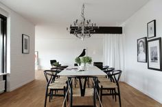 These chairs look great with a simple, modern table | Guest post: a mid-century modern Swedish home - my scandinavian home