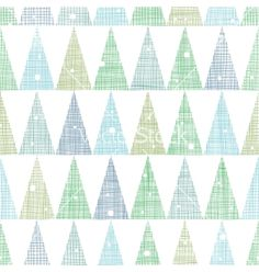 Abstract christmas trees forest in snow seamless vector by Oksancia on VectorStock®