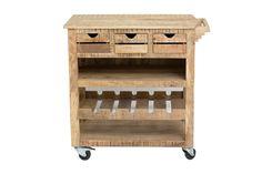 Vente Mobilier Vintage Loft / 18207 / Frigo / Desserte 3 tiroirs - Naturel