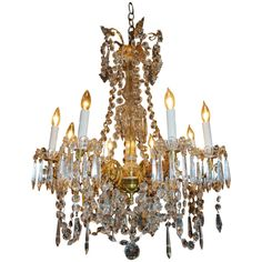 Antique French Chandelier   From a unique collection of antique and modern chandeliers and pendants  at https://www.1stdibs.com/furniture/lighting/chandeliers-pendant-lights/