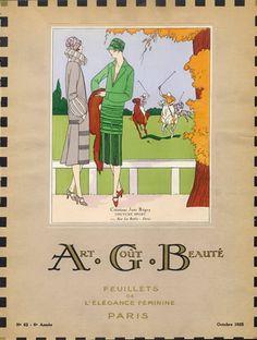 Jane Regny (Couture) 1925 A.G.B (Art Goût Beauté) Cover
