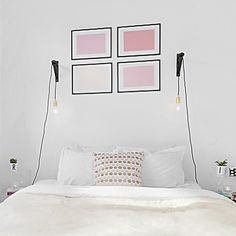 Våra sänglampor kommer troligtvis få byta… by - Square Pics Floating Nightstand, Sweet Home, Gallery Wall, Frame, Furniture, Home Decor, Floating Headboard, Picture Frame, Decoration Home