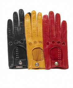 Women's Italian Leather Driving Gloves with Contrast Stitching By Fratelli Orsini | Free USA Shipping at Leather Gloves Online