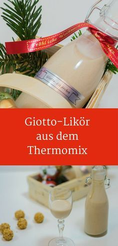 Giotto liqueur recipe ✅ Delicious gifts from Thermomix® - Make your own Giot. Giotto liqueur recipe ✅ Delicious gifts from Thermomix® - Make your own Giotto liqueur, liqueur recipe, do-it-yourself gifts, gifts from the kitchen, Thermom - Dessert Nouvel An, Raspberry Desserts, Snack Recipes, Dessert Recipes, Liqueur, Pumpkin Spice Cupcakes, Ice Cream Recipes, Christmas Desserts, Allrecipes