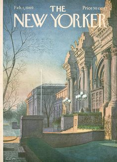 The New Yorker - Saturday, February 1, 1969 - Issue # 2294 - Vol. 44 - N° 50 - Cover by : Charles E. Martin