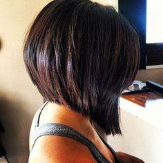 back view angled bob haircut - Google Search
