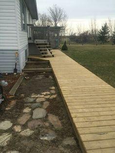 Raised wooden walkway …