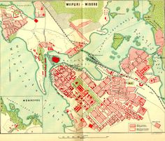 Map of the center of Vyborg, Finland, 1902. Vyborg (Viipuri in Finnish) and its region is now part of Russia.