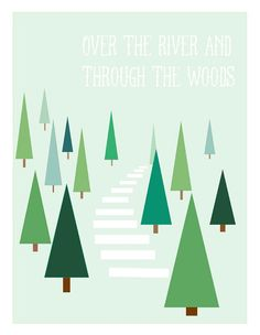 Over The River - Digital Print - Holiday Print
