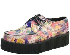 Floral Leather Creepers