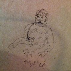 sketch - ink on cardstock