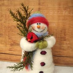 Wool Belznickle Felted 7 inch Ornament....Made to Order...please check delivery time