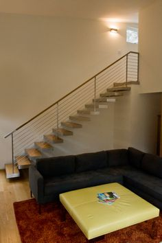 #modernstaircases #modernrailings http://www.stevemorrisdesigns.com/services/staircases-and-railings/
