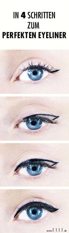 So leicht kommt ihr in vier Schritten zum perfekten Eyeliner! Probiert es aus!