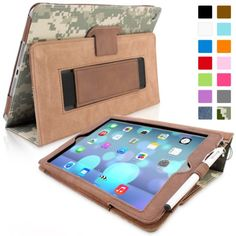 Snugg iPad Air (iPad 5) Case in Digital Camo Leather - Flip Cover and Stand with Automatic Wake / Sleep, Elastic Hand Strap & Soft Premium Nubuck Fibre Interior to Protect Apple iPad Air (iPad 5) - Includes Lifetime Guarantee Snugg http://www.amazon.com/dp/B00HUR0T6G/ref=cm_sw_r_pi_dp_8jgRtb1TH80TY4A3