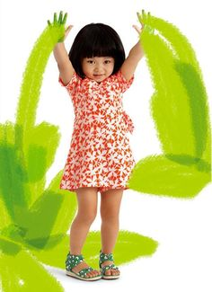 Funky wrap dresses for your #flower #girls by DVF for Gap Kids