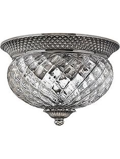 Historical Lighting. Plantation Flush Mounted Ceiling Light With Clear Optic Glass $170