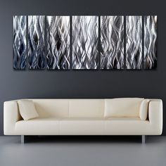Modern Silver Metal Art For Walls