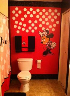 1000 images about minnie mouse bathroom ideas on for Mickey mouse bathroom ideas